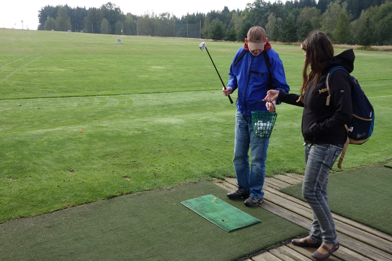 Štěpán na golfu